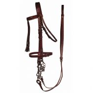 Hand sewn Jerezana bridle with hand made Jerezana reins